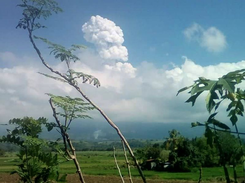 Kanlaon- photo of the last phreatic eruption of 09.12.2017 by Ms. Ritchel Demerin Villanueva via PHIVOLCS