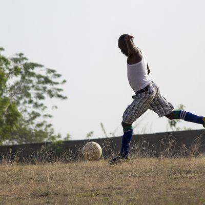Le footballer des vacances