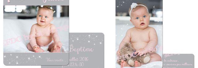 Le faire part de baptême et carte remerciements fée clochette de la douce Jiulia ...