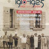 """Exposition 2018 """" Les Alsaciens 1918-1925 Paix sur le Rhin ? """" - anciens9genie.overblog.com"""