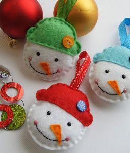 Idées de décorations pour Noël, feutrine, etc...