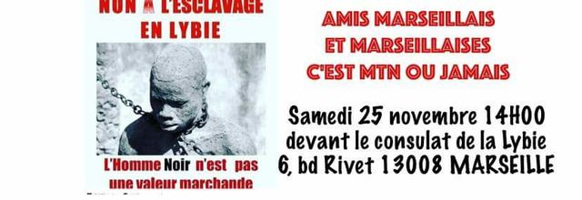 25/11/17 - Rassemblement contre l'esclavage en Libye - Marseille