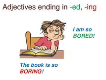 The adjective -ed or -ing