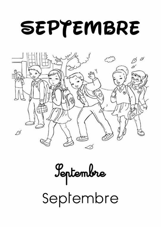Les Mois de l'Année 2 : Septembre [Affichage][Coloriage][Maternelle][CP]