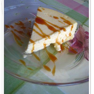 Cheesecake à la mode new yorkaise au fromage blanc (sans gluten)