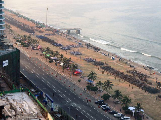 Répétition du défilé national Colombo Sri Lanka