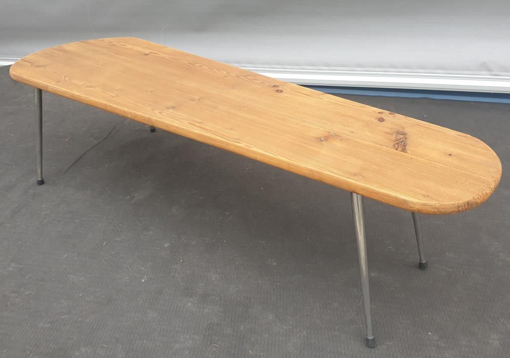TABLE BASSE PLATEAU OBLONG PIN MIMBEAU 1950 - 180 euros