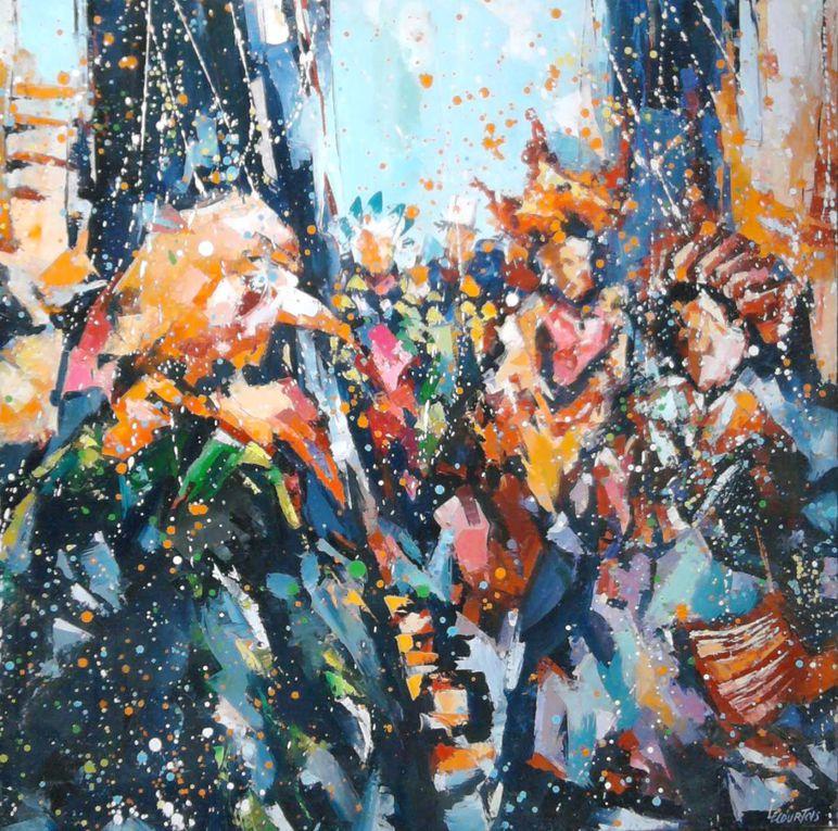 CARNAVAL DE GRANVILLE Une quarantaine de tableaux réalisées à l'huile sur toile. à l'atelier... copyright Olivier Lecourtois  2006-2011