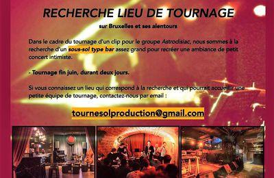 🎵 Groupe de rock bruxellois (ASTRODISIAC) recherche lieu de tournage (fin juin / 2 jours)
