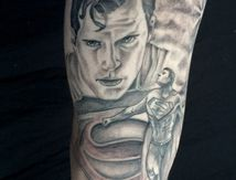 tatouage superman