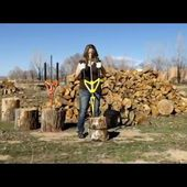 Splitting wood has never been SAFER Safe innovative way to get quickly firewood - Good N Useful