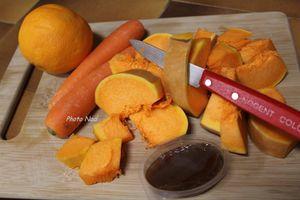 Soupe Courge-Carottes-Orange (Thermomix ou pas)