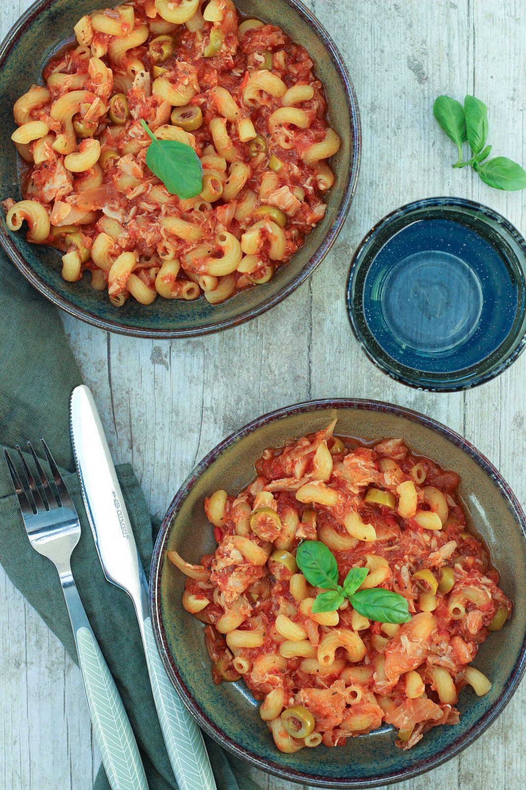 one pot pasta thon tomates olives vertes cookeo