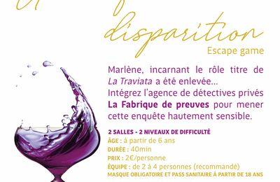 ESCAPE GAME de La Fabrique Opéra Val de Loire : Conservatoire d'Orléans 15 septembre / en plein air 18 septembre