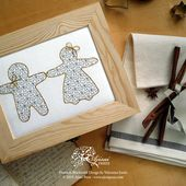 How to create a blackwork embroidery using cookie cutters (plus a free fill-in pattern for your Christmas projects)