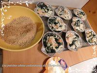 Coquilles saumon et épinards frais