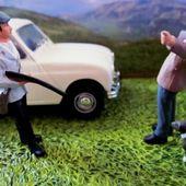 FASCICULE N°70 DIORAMA RENAULT 4L R4 RN7 LA ROUTE BLEUE UNE PARTIE DE CHASSE NICE. - car-collector.net