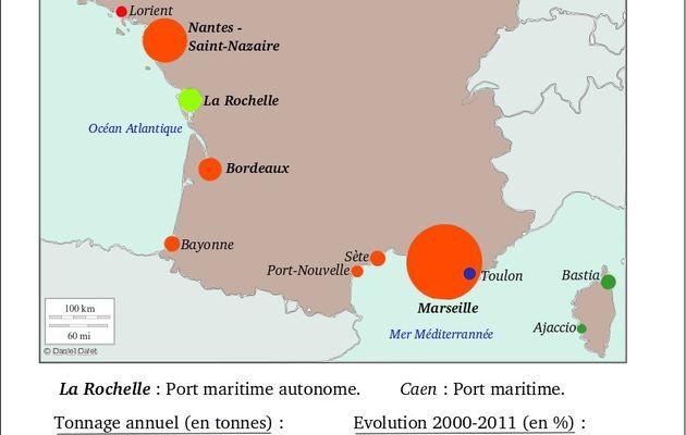 Consommation en france / Entrées des produits consommés en France Les Ports en France- Exemple : Dunkerque