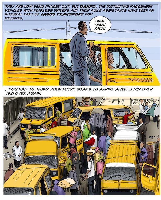 Breve secuencia de imágenes que explican la mega ciudad de Lagos || Tayo Fatunla.- El Muni.