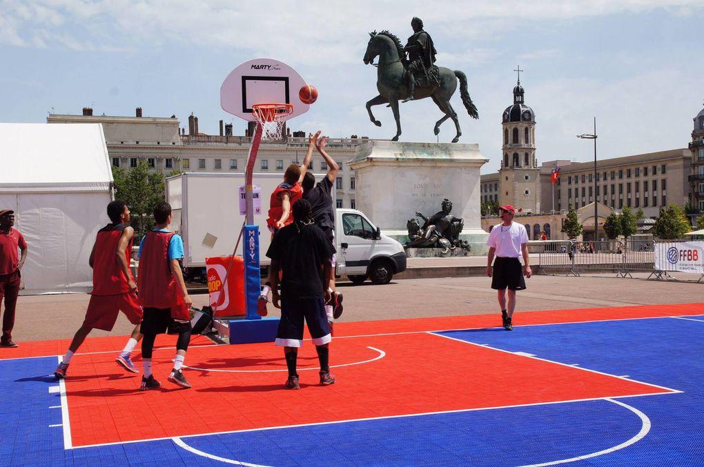 Le Tournoi Brun 3 x3 de basket s'invite sur la commune apr§s un passage place Bellecour ou àVieznne lors des éditions précédentes - Photo : ©Comité du Rhône et de la Métroipole de Lyon de Basket-ball