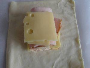 Paniers feuilletés au poulet et fromages