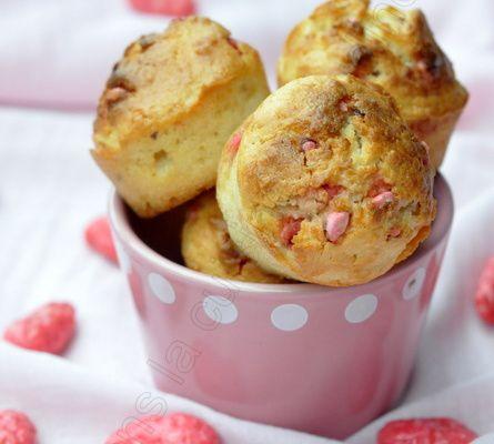Muffins coco et pralines roses pour octobre rose