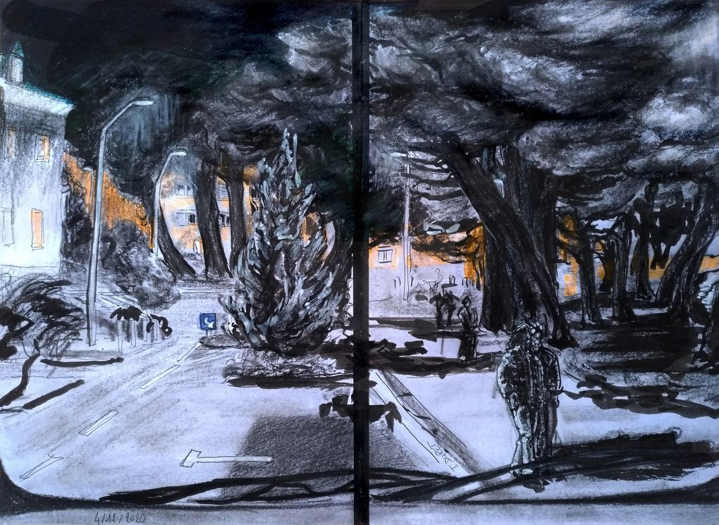 """Nocturne en hiver, souvent en sortant du travail, chrono en main pour rester dans les clous du """"couvre feu"""" ..."""