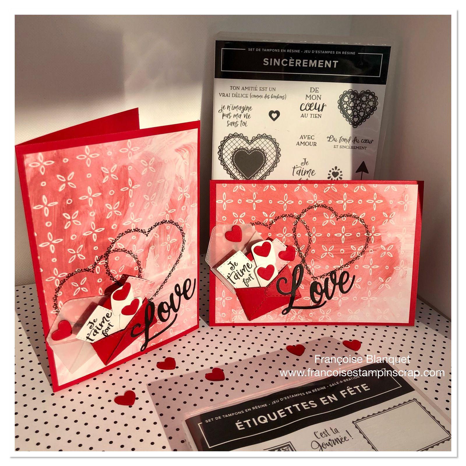 Cartes rapides spéciales Saint Valentin  Stampin'Up!
