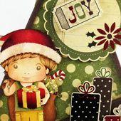 "Noël des campeurs, carte de type ""Teepee""... Dt Art du scrapbooking"