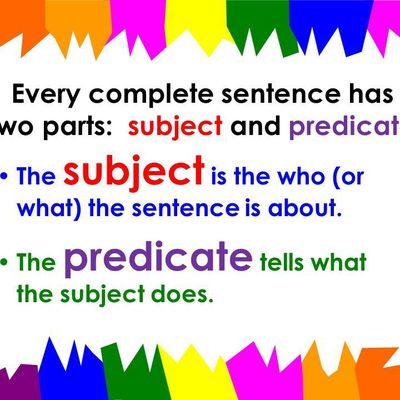 Sentences: the subject and the predicate. What are they?