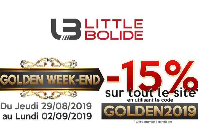 LittleBolide : un Golden Week-end et 15% de remise sur tout le site
