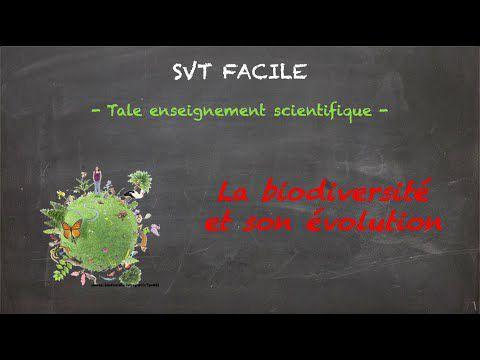 La biodiversité et son évolution