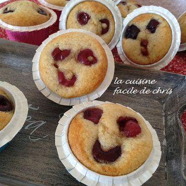 muffins cerises et amandes