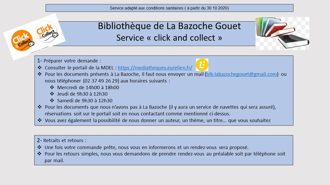 BIBLIOTHEQUE :CLICK AND COLLECT