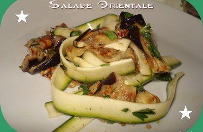 Salade Orientale Aubergines et Courgettes