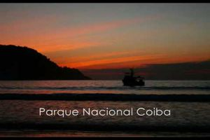 Google Earth : Parc national de Coiba (Panama)