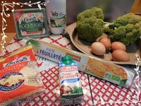 Quiche brocoli et Roquefort