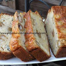 Cake aux olives, bleu d'Auvergne, jambon,  IG Bas   *Fiberpasta*