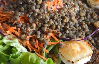 Salade composée & Toasts au Chèvre