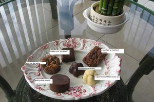 chocolats de noël sans sucres ajoutés