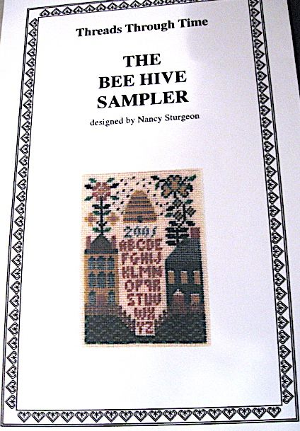 """""""The Bee Hive Sampler"""" designed by Nancy Sturgeon Treads Through Time"""