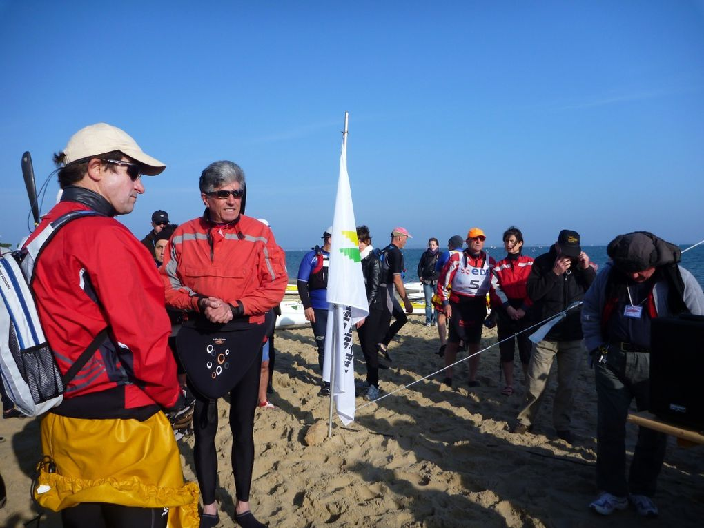 Course de loisir organisée par l'Avirons Arcachonnais, section kayak de mer, le dimanche 1er avril 2012