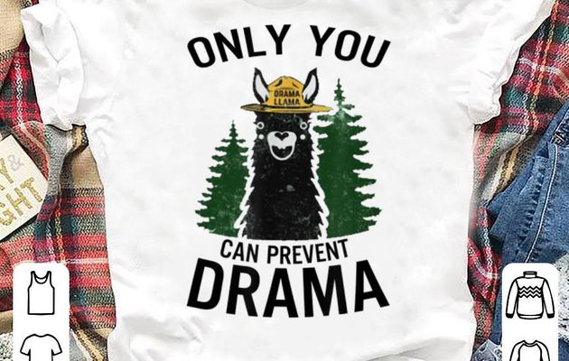 Premium Llama Camping Only You Can Prevent Drama shirt