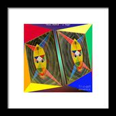 Shots Shifted - Le Mage 2 Framed Print by Michael Bellon