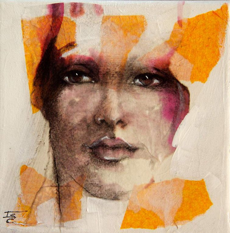 Mixed Média collage aquarelle acrylique