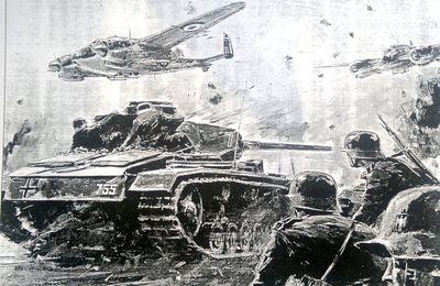La défaite de 1940 provoquée par les choix politiques d'une partie du haut commandement français liée à l'extrême droite. Sabotage sur la Meuse et contre offensive ratée à Montcornet.