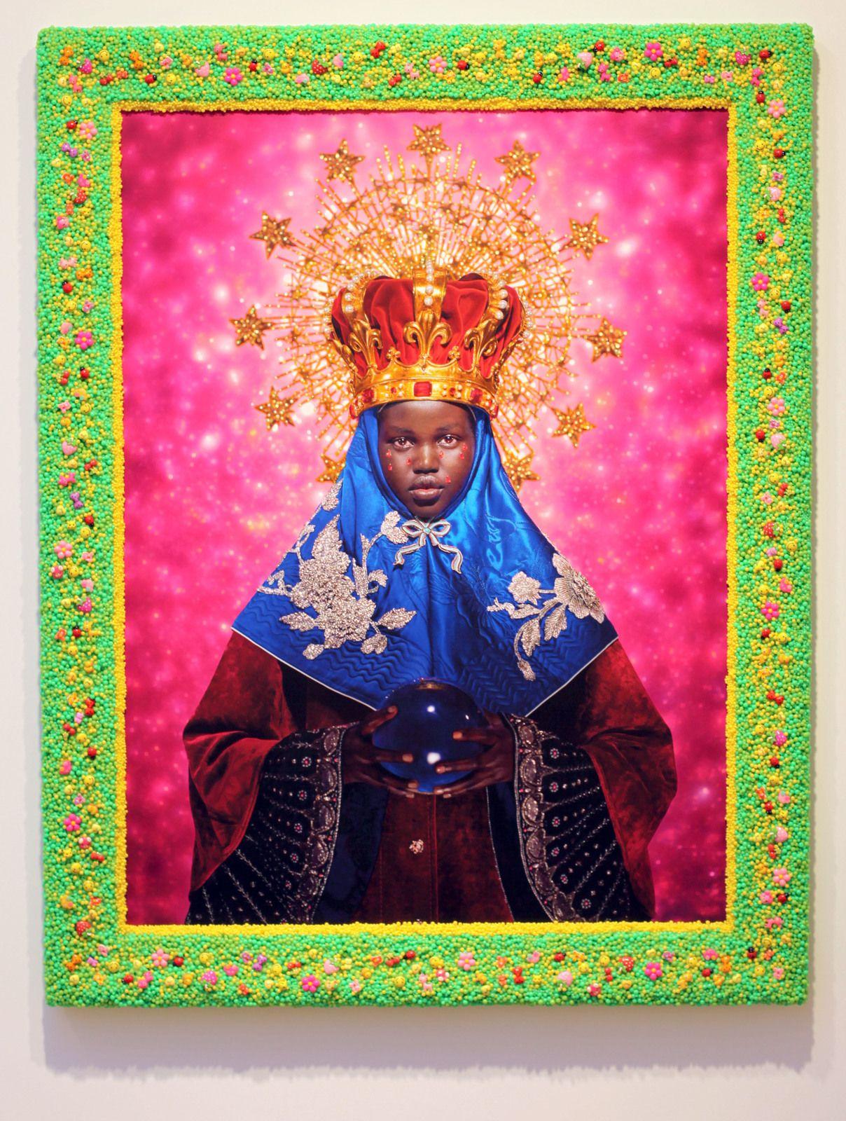 """""""La vierge noire (Adut Akech)"""", 2018 de PIERRE et GILLES - Courtesy Galerie Templon © Photo Éric Simon"""