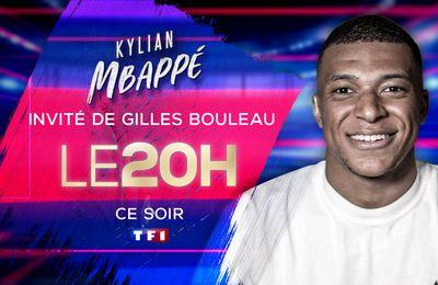 Kylian Mbappe invité exceptionnel du JT de 20H ce soir sur TF1