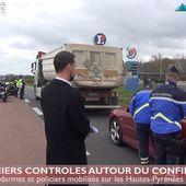 Premiers contrôles après le début du confinement en Hautes-Pyrénées (17 mars 20) | La Télé de Tarbes