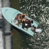 VIDEO - rescue in extremis of a speedboat drawn towards a waterfall - Yachting Art Magazine